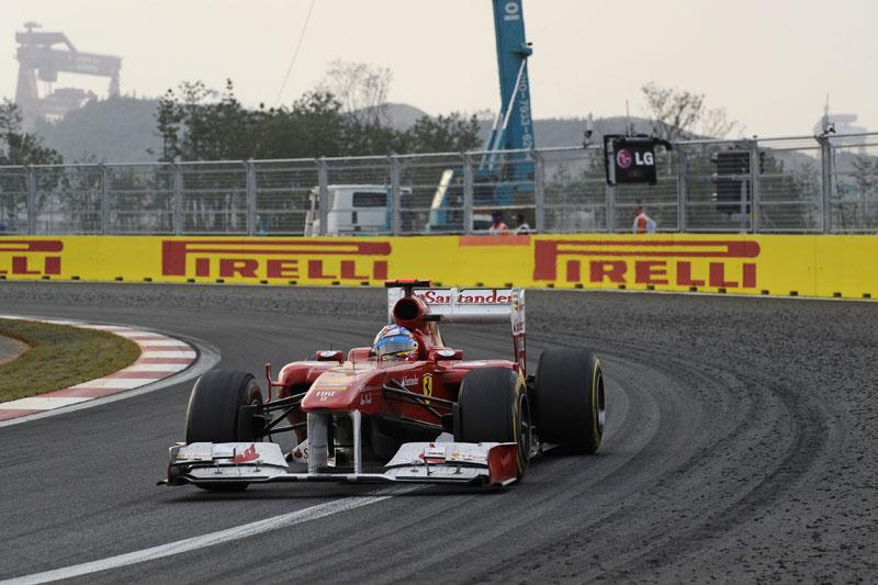 Alonso durante o GP da Coreia
