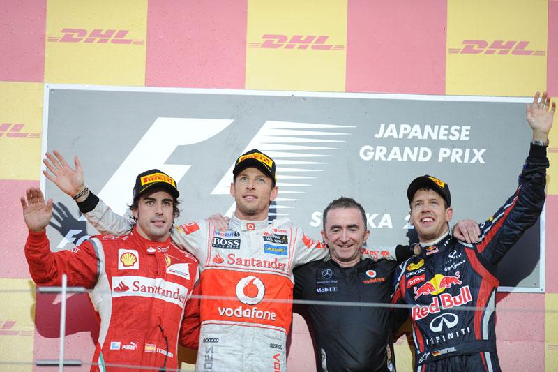 Alonso, Button e Vettel dividem pódio