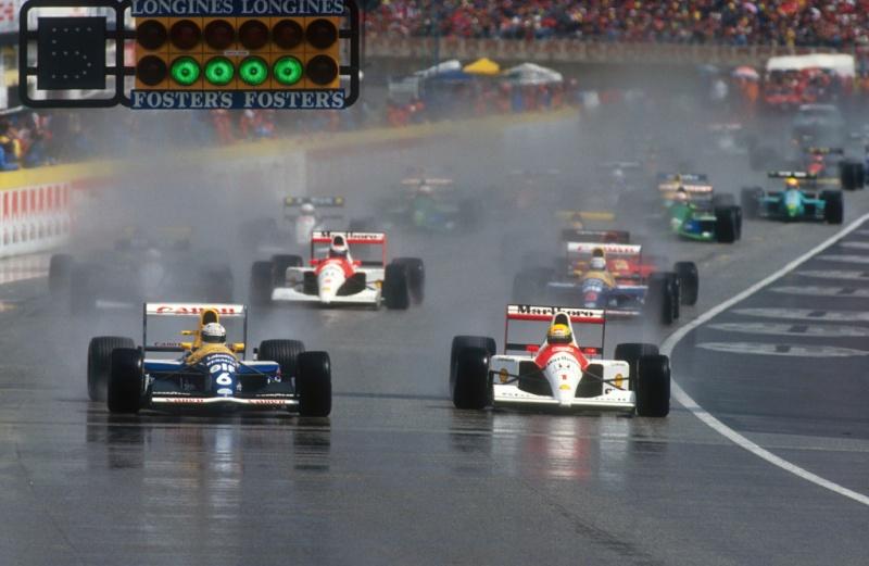 Senna e Patrese no GP de San Marino de 1991