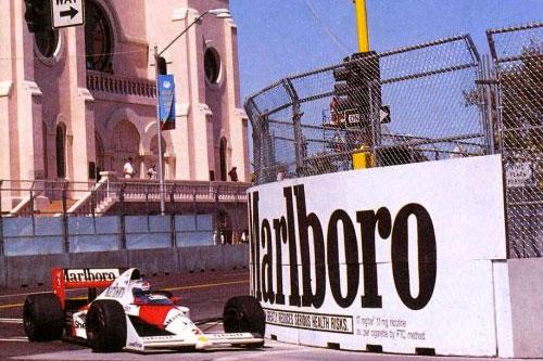 Prost em GP de Phoenix de 1989