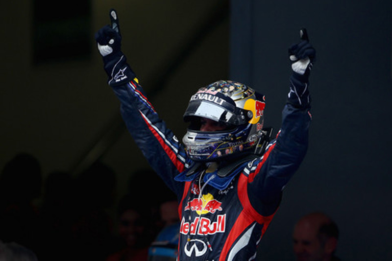Vettel prova gosto da vitória em Buddh