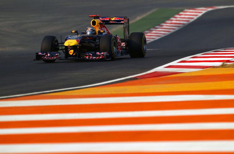 Vettel durante o GP da Índia