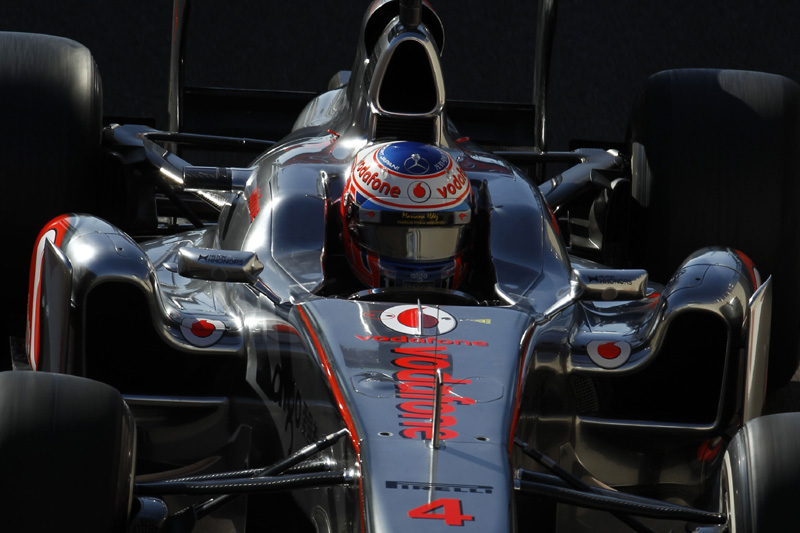 Jenson Button em Abu Dhabi