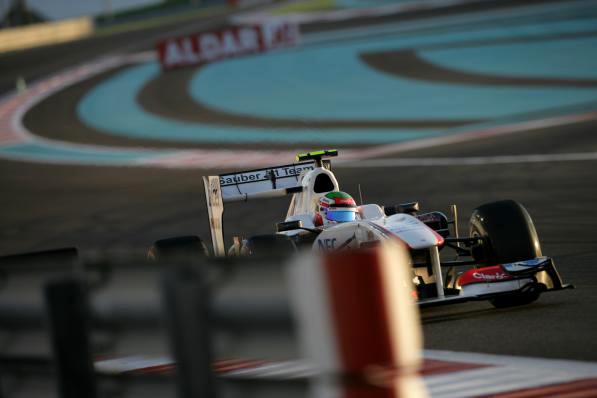Sergio Perez em Abu Dhabi