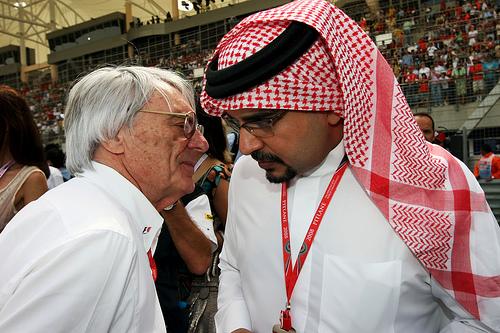Ecclestone e Al-Khalifa