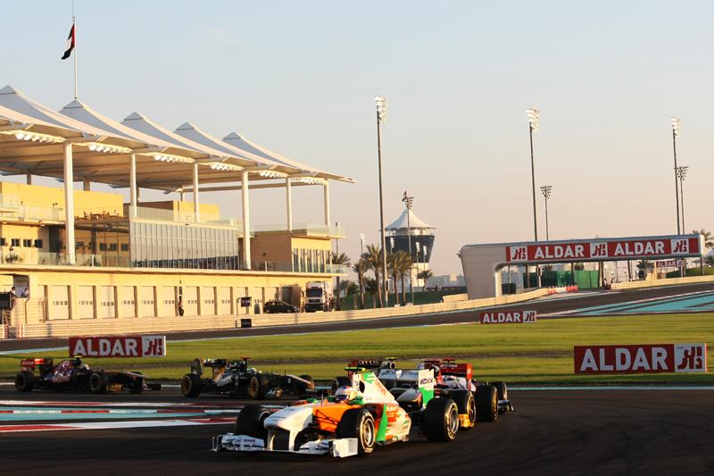 Force India manteve os rivais à distância em Abu Dhabi