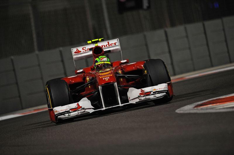 Massa durante os treinos livres para o GP de Abu Dhabi