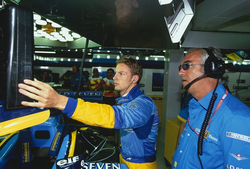 Button com Briatore nos tempos de Benetton