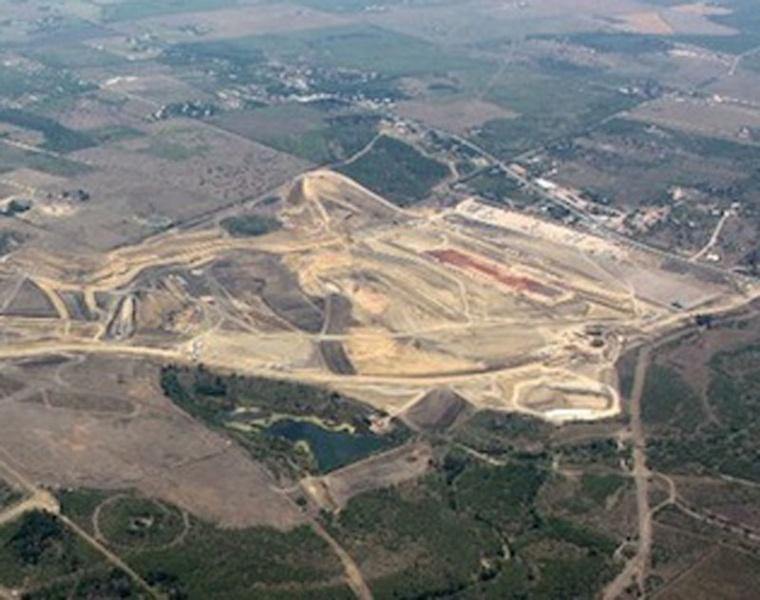 Área em que está sendo construído o circuito do Texas