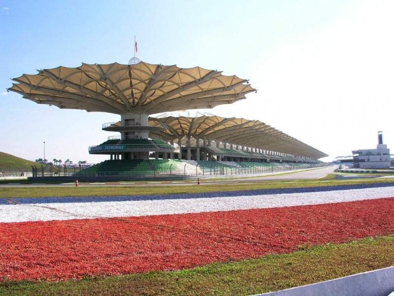 Circuito de Sepang, que recebeu o primeiro GP em 1999