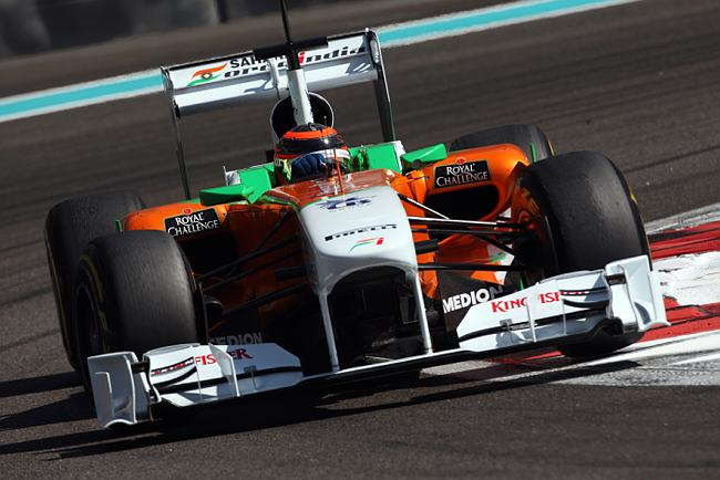 Max Chilton com o carro da Force India