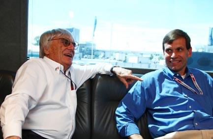 Tavo Hellmund e Bernie Ecclestone