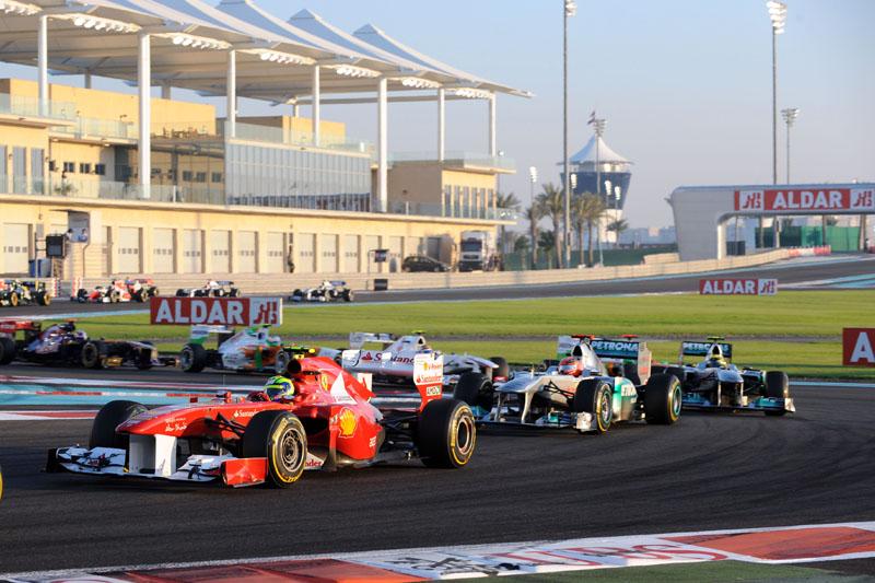 Felipe Massa durante o GP de Abu Dhabi