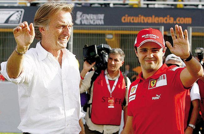 Luca di Montezemolo e Felipe Massa