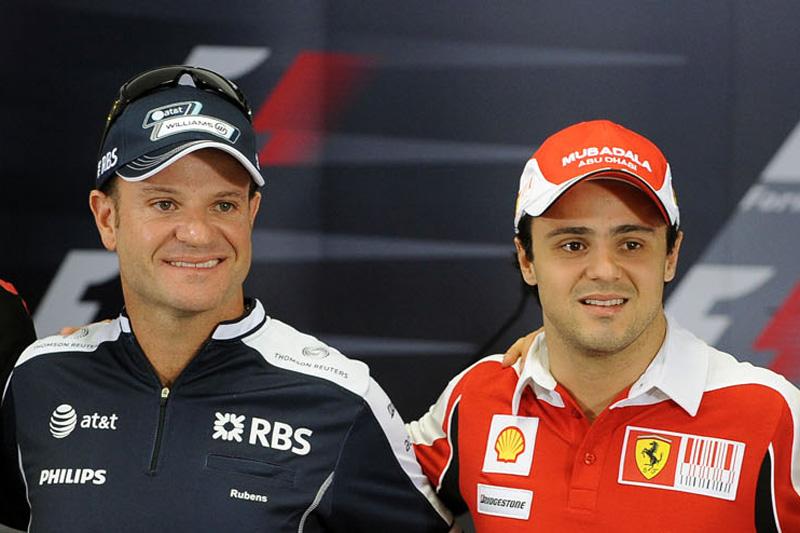 Rubens Barrichello e Felipe Massa