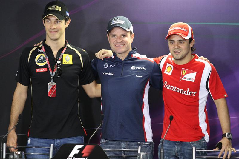 Bruno Senna, Rubens Barrichello e Felipe Massa