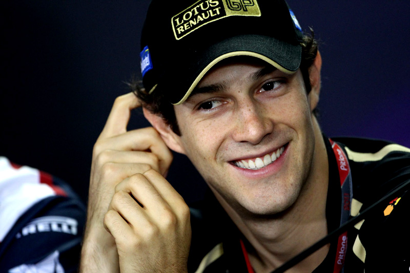 Bruno Senna na coletiva oficial