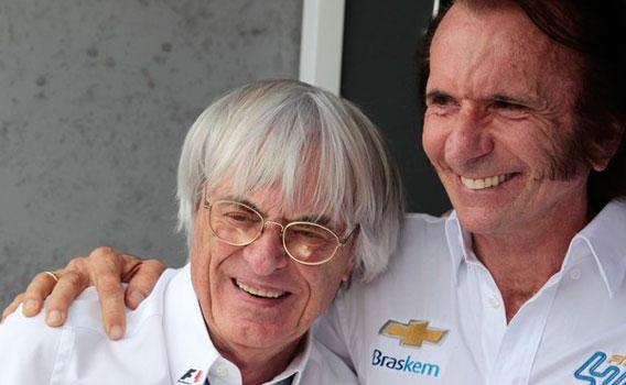 Emerson Fittipaldi e Bernie Ecclestone