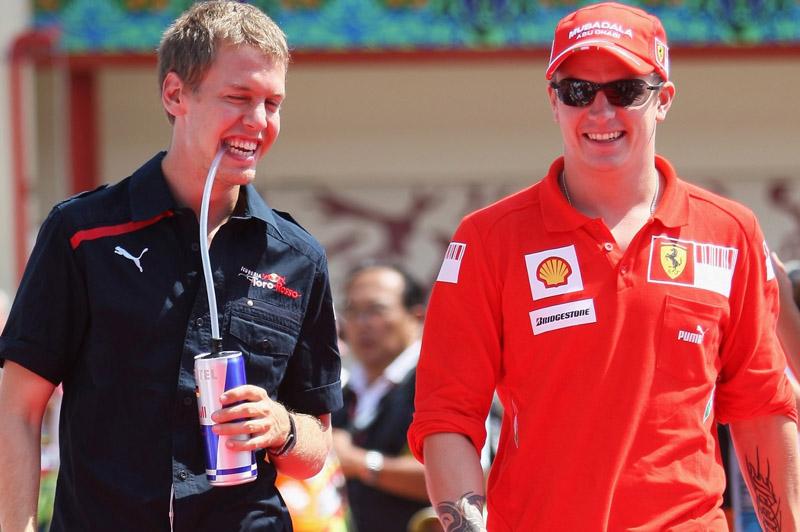 Vettel e Raikkonen en 2009
