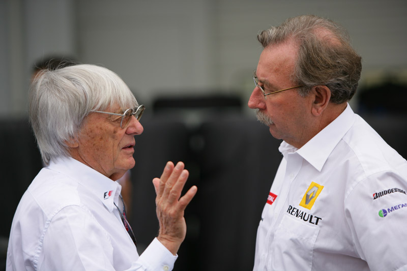 Jean Francois Caubet e Bernie Ecclestone