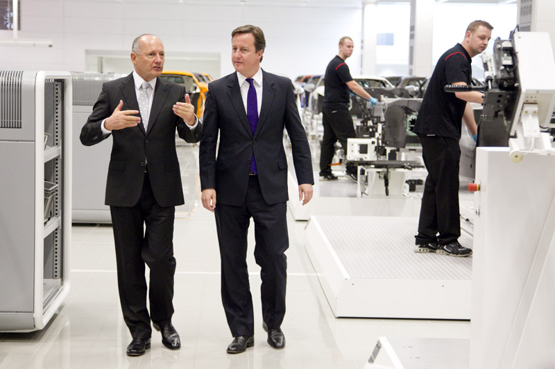 A McLaren recentemente recebeu a visita do primeiro ministro britânico Gordon Brown
