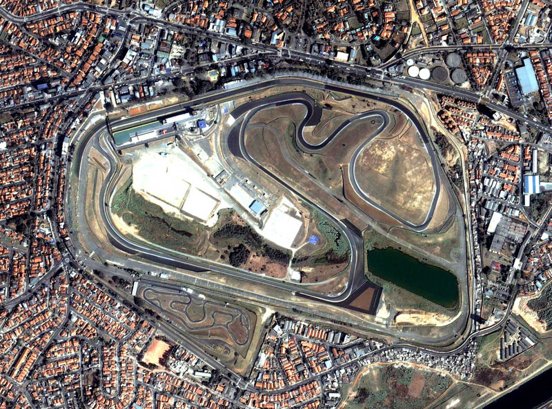 Vista aérea do circuito de Interlagos