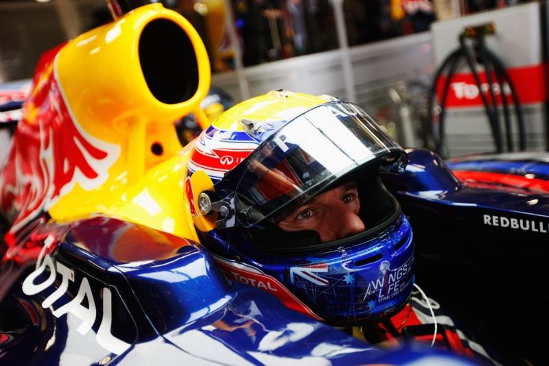 Webber: liderança com tranquilidade no primeiro treino