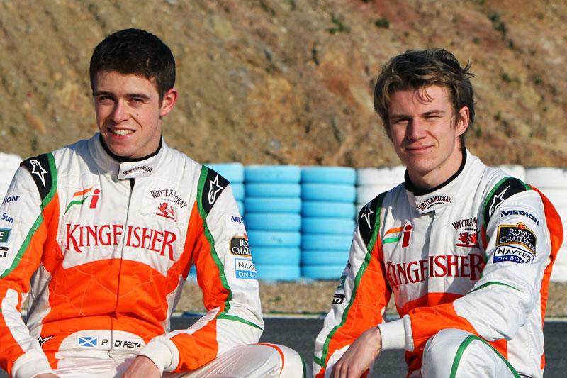 Paul di Resta e Nico Hulkenberg