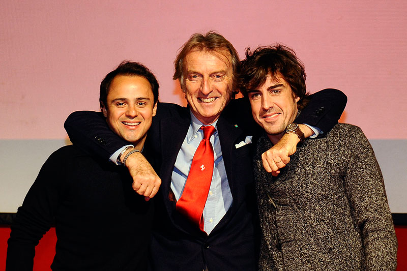 Massa, Montezemolo e Alonso