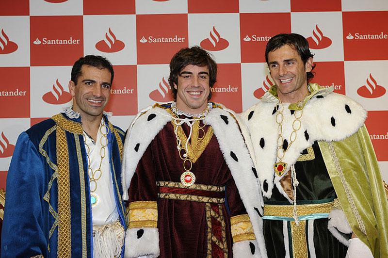 Gené, Alonso e De la Rosa em Madrid