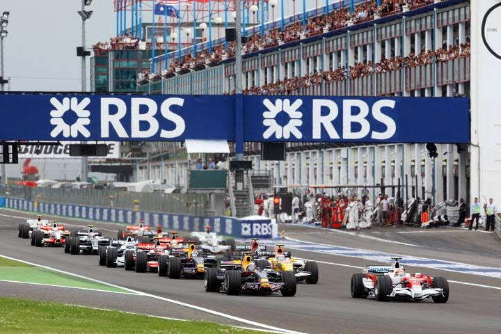 Largada do GP da França de 2008