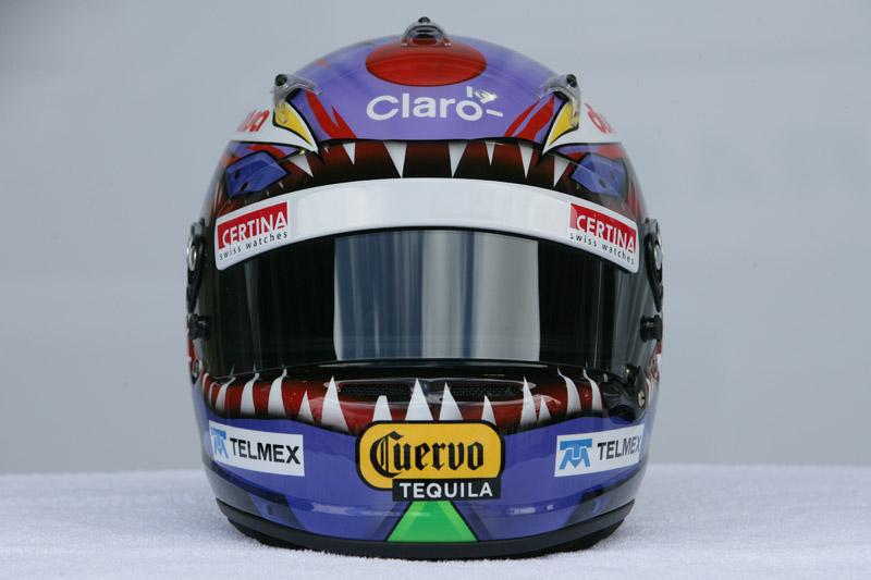 O capacete usado por Kobayashi no Brasil