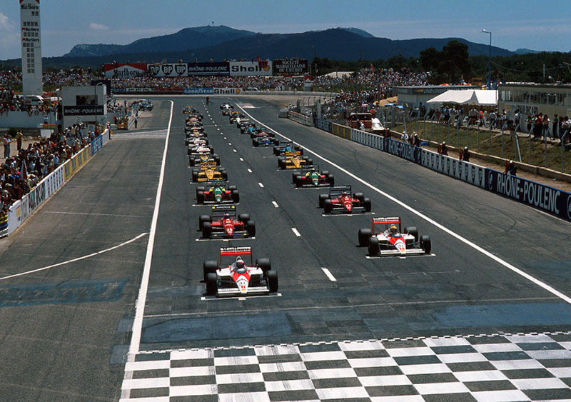 Largada do GP da França de 1988