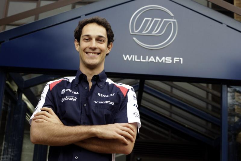 Bruno Senna posa como piloto da Williams