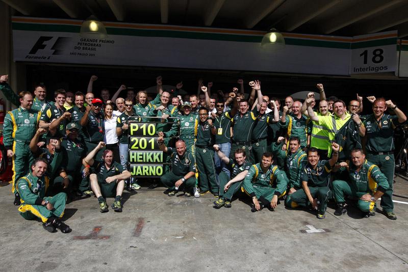 Aob o nome de Lotus, a Caterham foi décima colocada no campeonato de 2011