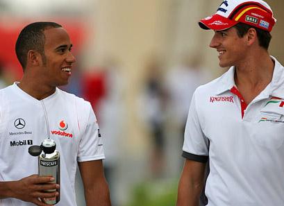 Lewis Hamilton e Adrian Sutil