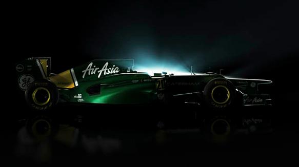 Primeira imagem do carro da Caterham para 2012