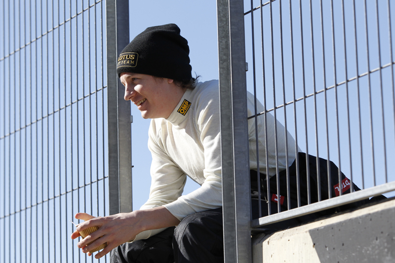 Raikkonen durante seu primeiro teste após o retorno