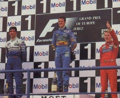 Schumacher, Hill e Hakkinen disputaram a temporada 1994 e viriam a ser campeões nos anos seguintes