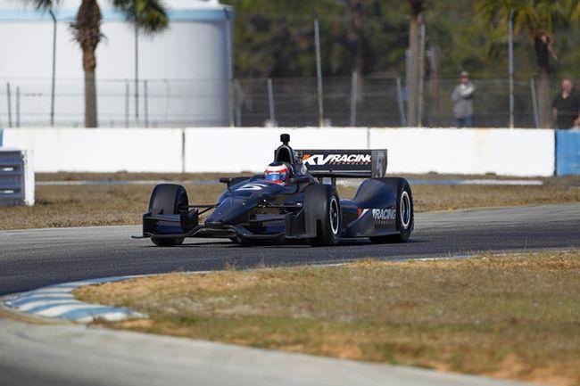 Barrichello conduz carro da KV em Sebring (Reprodução)
