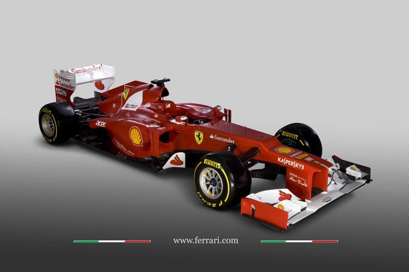 O novo modelo da Ferrari para a temporada 2012