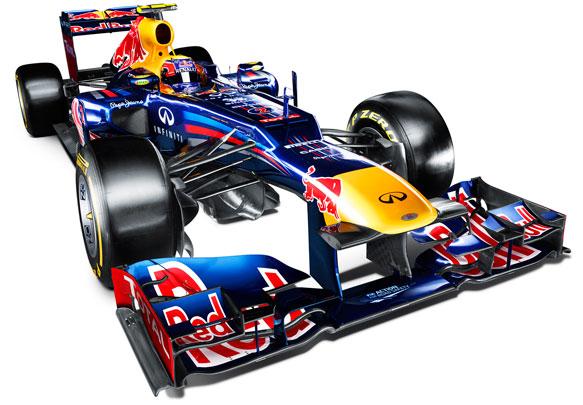 O novo modelo da Red Bull, apresentado hoje