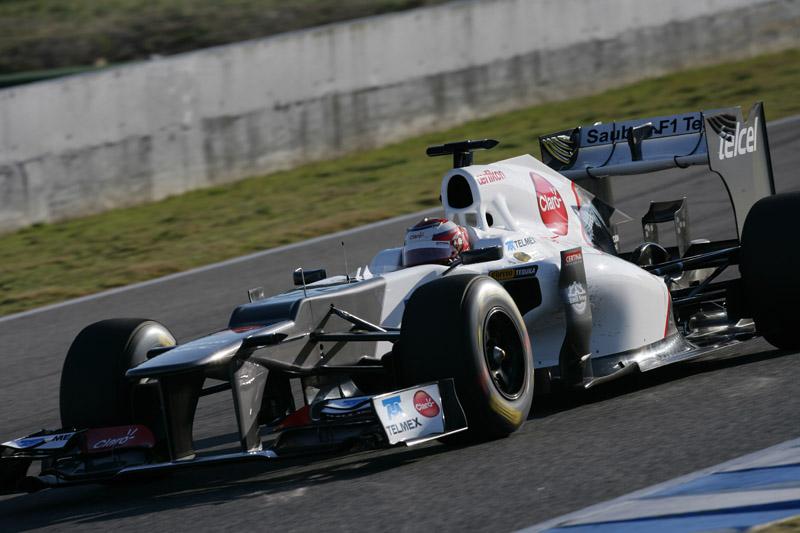 Kobayashi testa sua nova Sauber