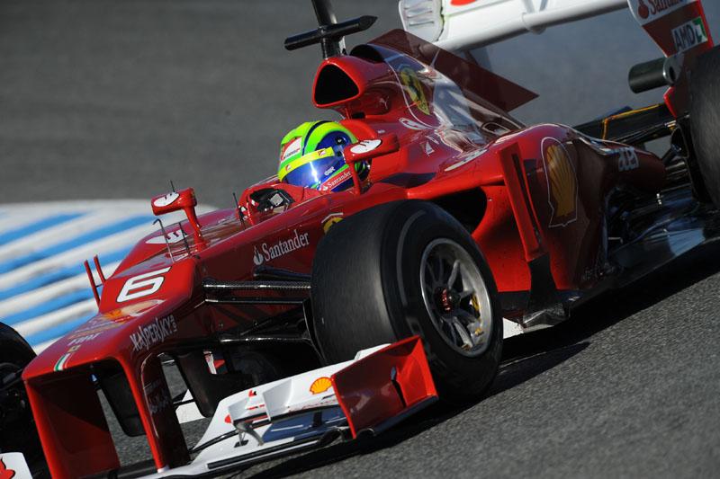 Massa pilota o F2012 em Jerez