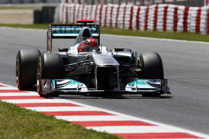 Schumacher usou o W02 em Jerez