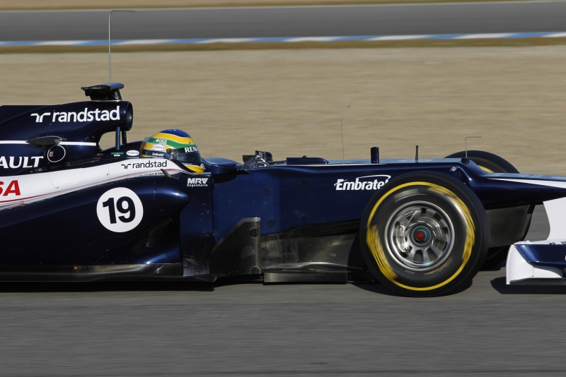 Bruno Senna em ação durante teste em Jerez de La Frontera