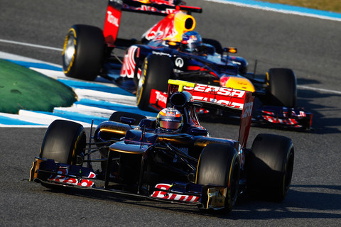 Vergne e Vettel em Jerez