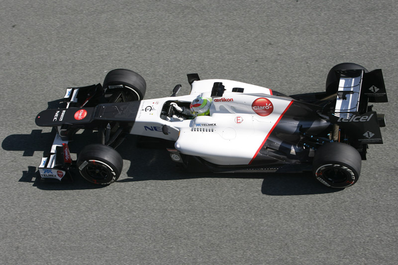 A Sauber correu com seu carro de 2012 em Jerez