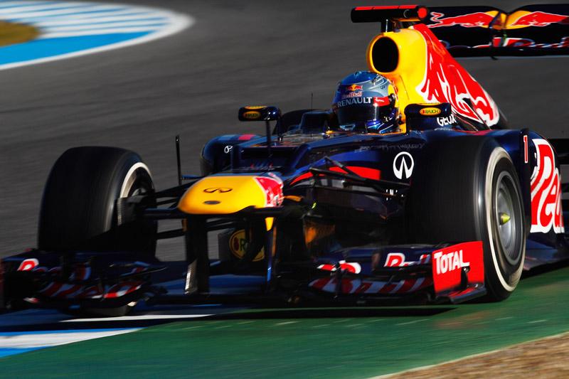 Vettel andou com o RB8 nos dias 10 e 11 de fevereiro