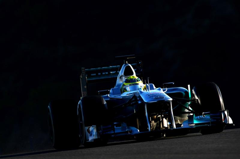 Em Jerez, a Mercedes andou com o modelo de 2011